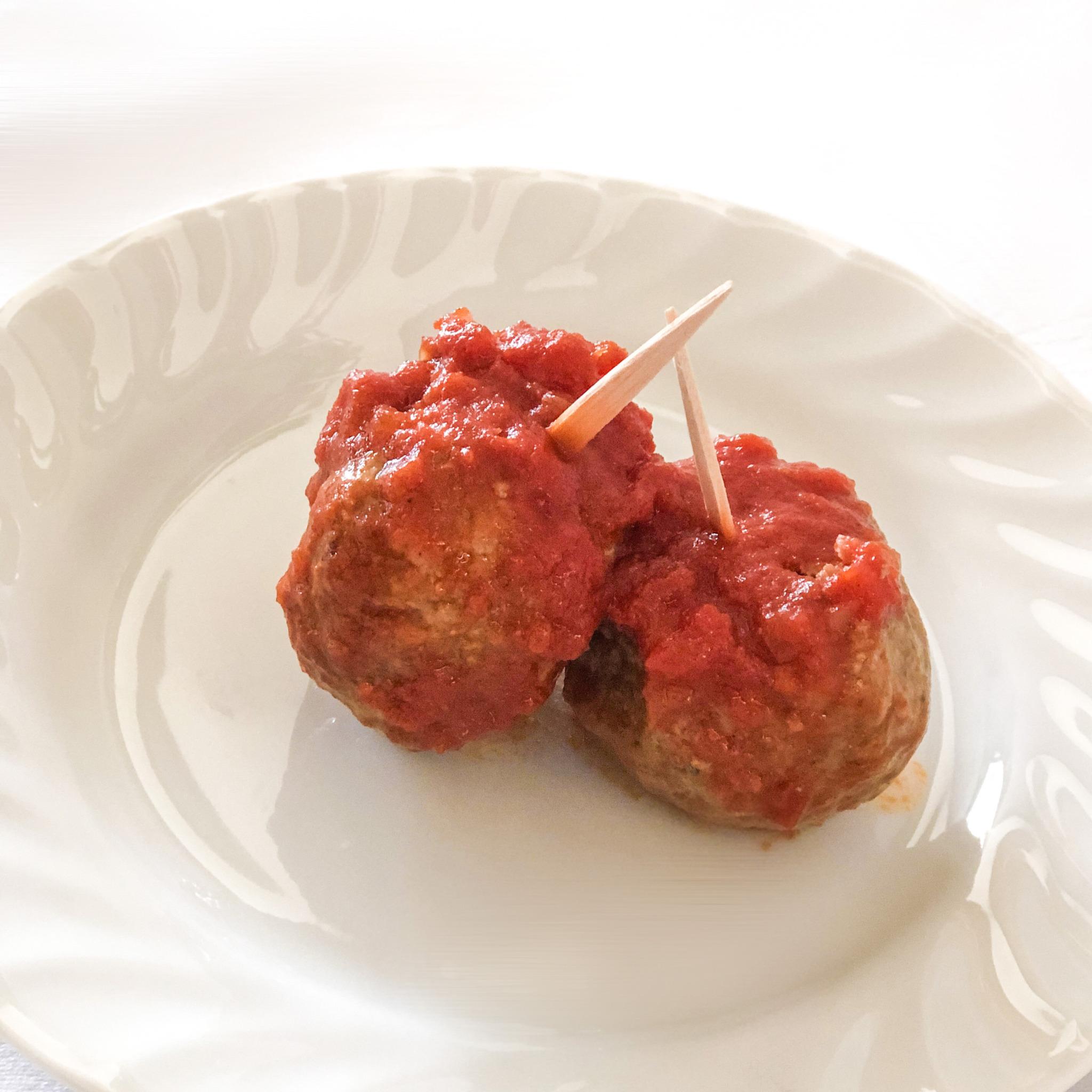 <p>スペイン風肉団子。</p>