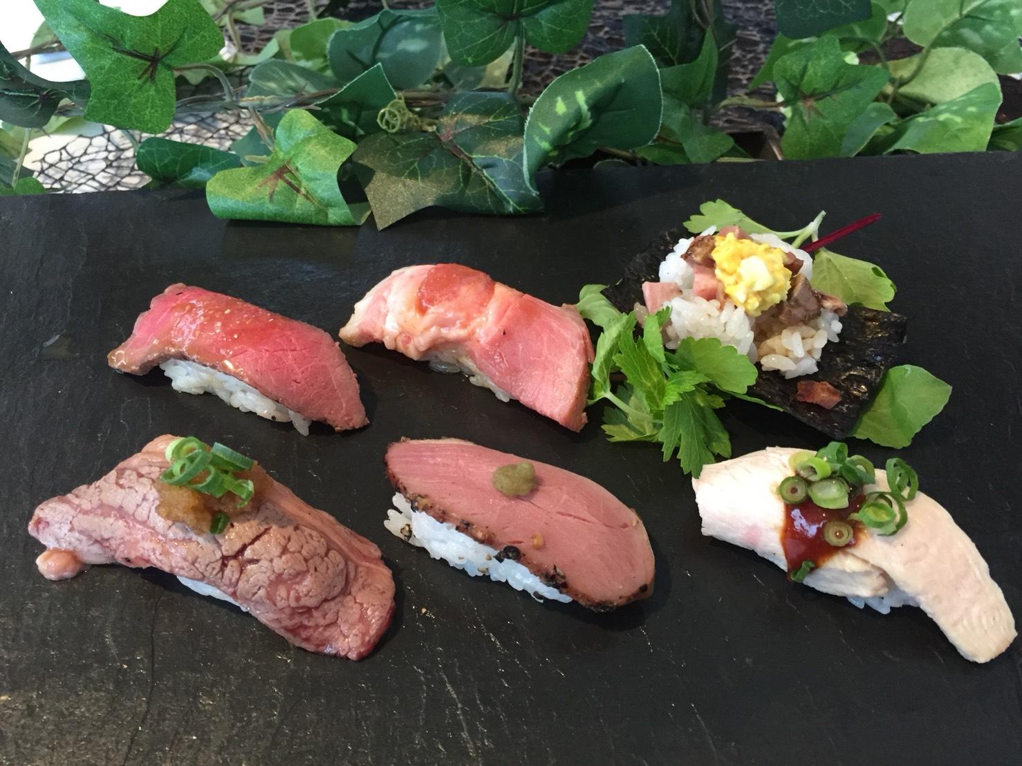 <p>肉寿司</p>